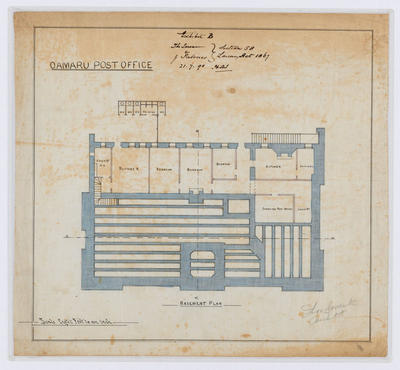Oamaru Post Office - Basement Plan (laminated)