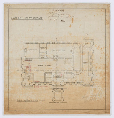 Oamaru Post Office - Ground Floor Plan (laminated)
