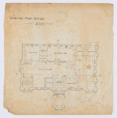 Oamaru Post Office - Ground Floor Plan