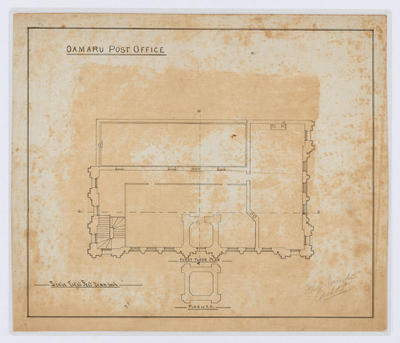 Oamaru Post Office - First Floor Plan (laminated)