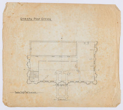 Oamaru Post Office - First Floor Plan