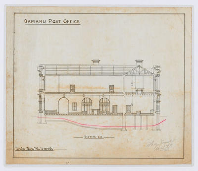 Oamaru Post Office - Section C-D (laminated)