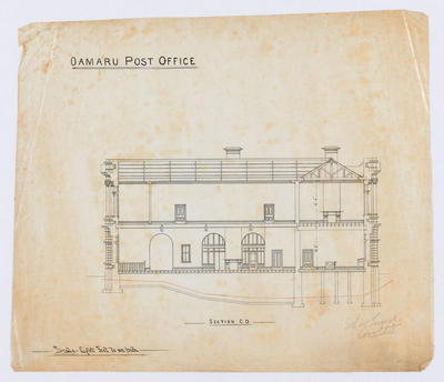 Oamaru Post Office - Section C-D