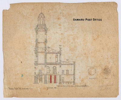 Oamaru Post Office - Section A-B