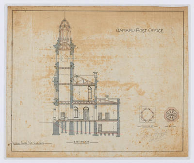 Oamaru Post Office - Section A-B (laminated)