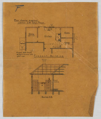Plan showing proposed addition to Mr Foley's House