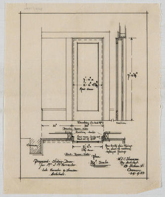 Proposed Sliding Door for Mr J M Forrester