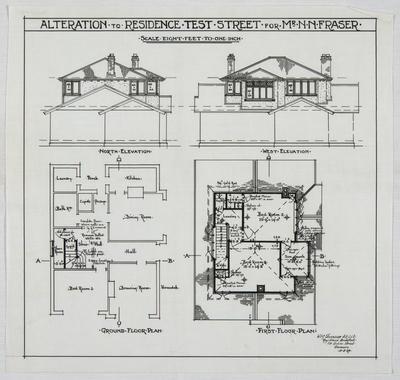 Alteration to Residence Test Street for Mr N N Fraser