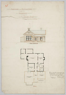 Additions and Alterations to Residence for T Jardine Esq