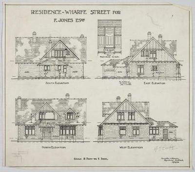 Residence Wharfe Street for F Jones Esq