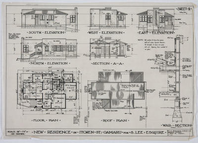 New Residence in Itchen St Oamaru for S Lee Esq
