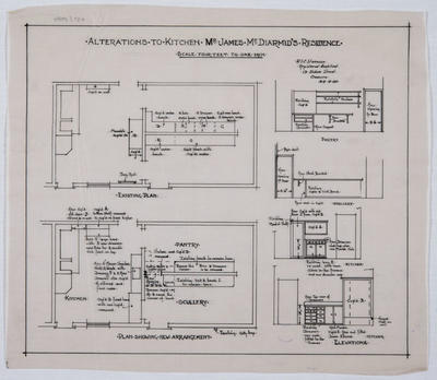Alterations to Kitchen, Mr James McDiarmid's Residence