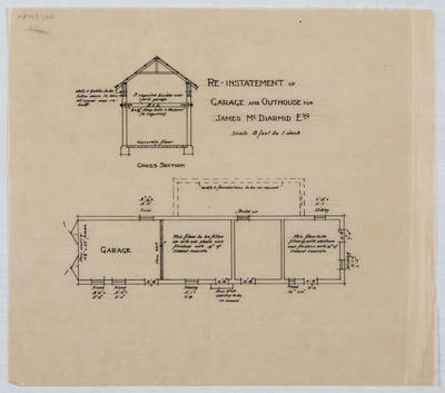 Re-instatement of Garage and Outhouse for James McDiarmid Esq