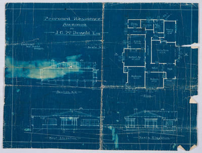 Proposed Residence Awamoa for J G McDonald [Blueprint]