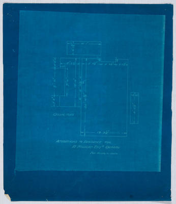 Alterations to Residence for R Milligan Esq (Blueprint)