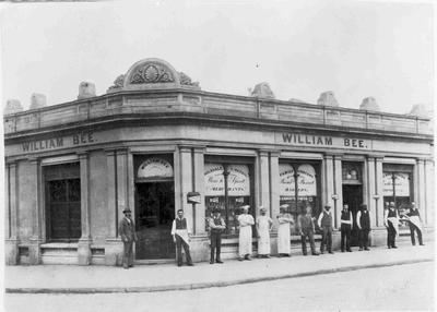William Bee's shop, corner of Tyne Street