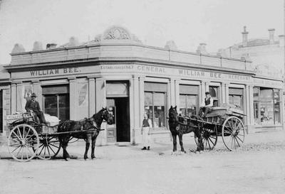 William Bee's shop, corner of Tyne Street