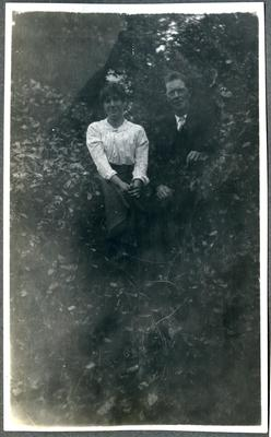 Man and woman in a garden