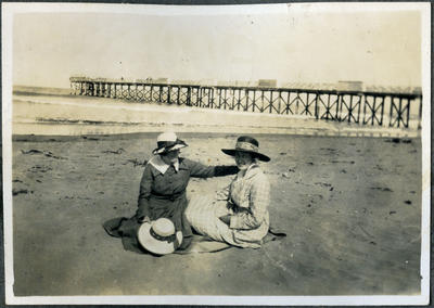 Women at the beach, New Brighton Christchurch