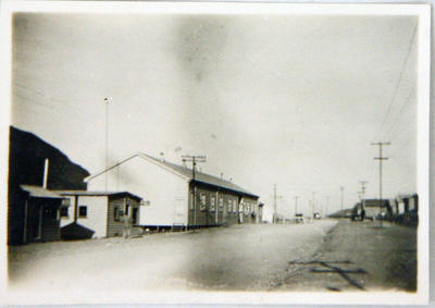 Street and buildings, location unidentified