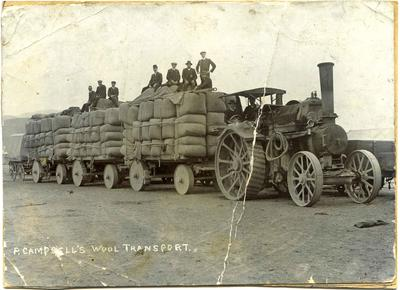 P Campbell's wool transport