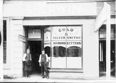 Sherwin Bros., watchmakers and jewellers.