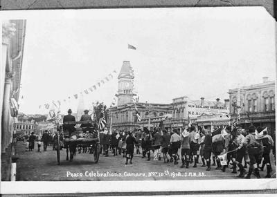 Peace Day Celebrations. Oamaru. November 1918