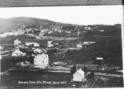 View of  Oamaru, looking south