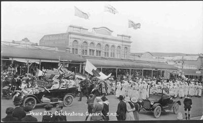 Peace day Celebrations Oamaru, JMB. November 1918.