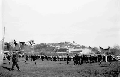 Peace celebrations, Takaro Park, Oamaru, November 1918