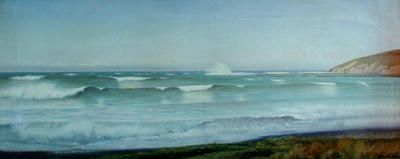 Breakers at Oamaru 1885