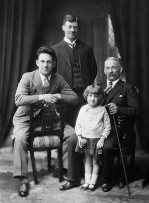 Jackman family, four generations