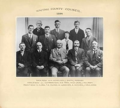 Waitaki County Council 1934; 2017/002.111.1
