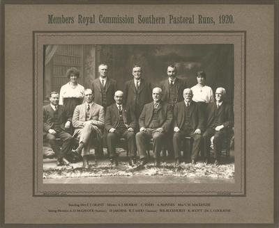 Members Royal Commission Southern Pastoral Runs, 1920.