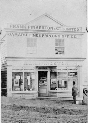 Oamaru Times Printing Office, Wansbeck Street. Near Tees St.