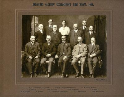 Waitaki County Council Councillors and Staff; Mahan, R; 2017/002.110