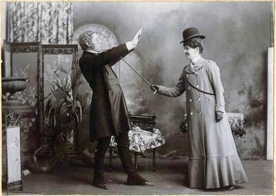 Mrs Lefevre and John Crisp, Palmerston Dramatic Club