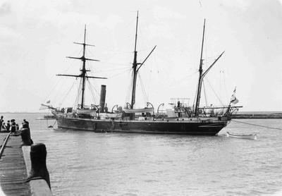 Ship near Sumpter Wharfe, Breakwater