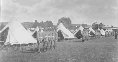 Queen's Rifles Inspection Camp 1904.Arun Street Showgrounds, Oamaru; 2852P