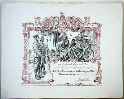 Corporal Samuel Lee, Service Certificate