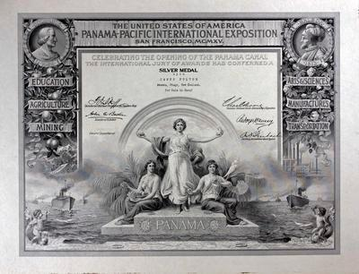 Fulton, James Silver Medal Certificate