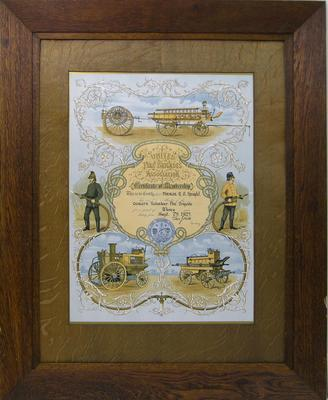 Knight, RG. United Fire Brigade Association Certificate