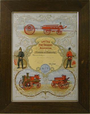 Orbell, Ronald S Fireman. Oamaru Volunteer Fire Brigade