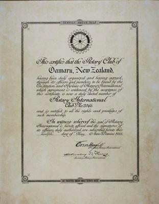 Oamaru Rotary Club Member of Rotary International