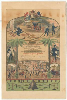 Baker, Albert. Oamaru Volunteer Fire Brigade Service Certificate
