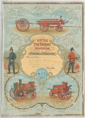 Ross,  A. Oamaru Volunteer Fire Brigade Service Certificate