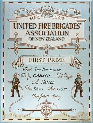 Oamaru Fire Brigade First Prize