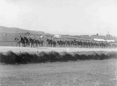 North Otago Mounted Rifles south of Oamaru c.1891-95.