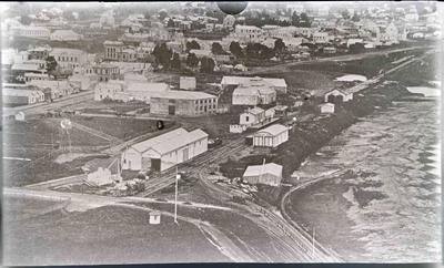 Oamaru rail yards. First train station
