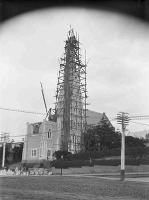 Building St. Lukes Spire and chancel